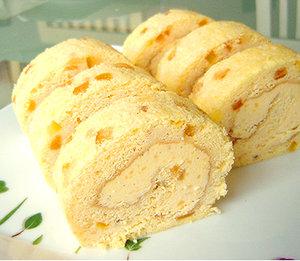オレンジピールのロールケーキ