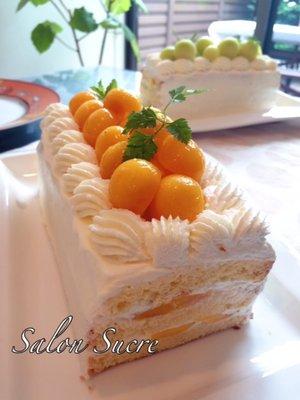 メロンショートケーキ(マンゴーショートケーキ)