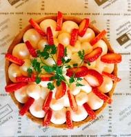 苺とレモンクリームタルト